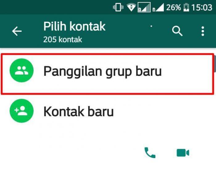 Cara Video Call 8 orang Group Whatsapp