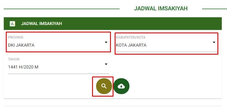 Pencarian Jadwal Imakiyah