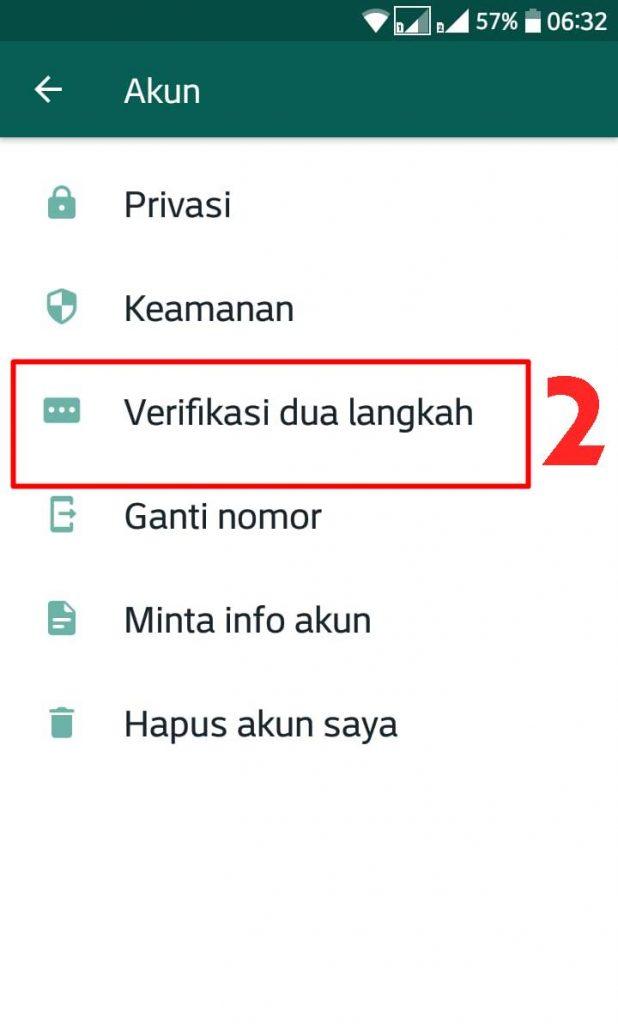 2. Verifikasi 2 Langkah