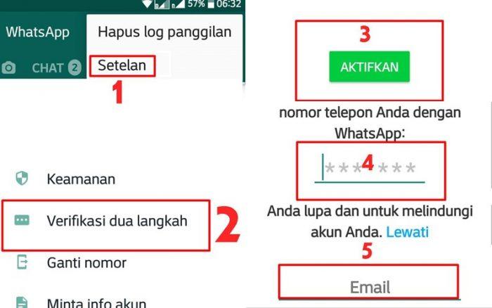 Verfikasi WhatsApp dua Langkah
