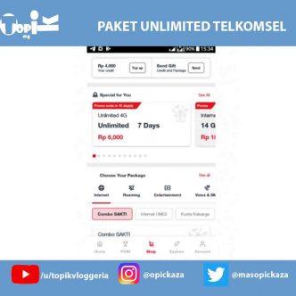 Promo Paket Telkomsel Unlimited