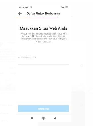 Masukkan Situs Website