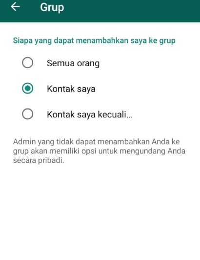 Cara Agar Tak ditambah Ke Group Whatsapp